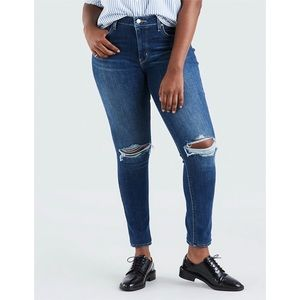 NEW Levi's 721 High Rise Ripped Skinny Denim Jeans
